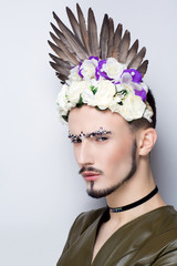 gay male make up