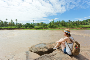 Woman at Pinnawala; Sri Lanka, Asia