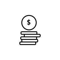 Money. Line Icon Vector.