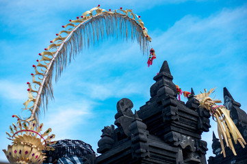 Traditional balinese penjor