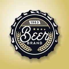 Beverage screw top designed in vintage style, vector illustration.