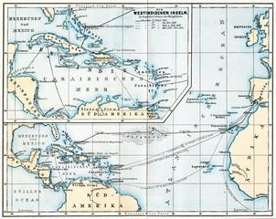 Voyages of Christopher Columbus (from Spamers Illustrierte Weltgeschichte, 1894, 5[1], 48/49)