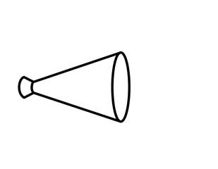メガホン(線画)