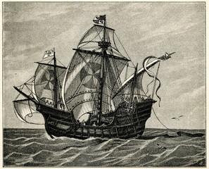 Santa María, ship of Christopher Columbus (from Spamers Illustrierte Weltgeschichte, 1894, 5[1], 52)