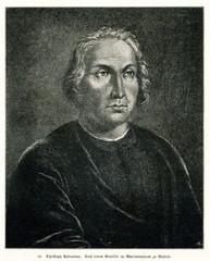 Christopher Columbus, Italian explorer and navigator (from Spamers Illustrierte Weltgeschichte, 1894, 5[1], 53)