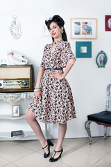 Vintage retro style girl