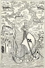 Columbus arrives to Antilles (from Spamers Illustrierte Weltgeschichte, 1894, 5[1], 58)