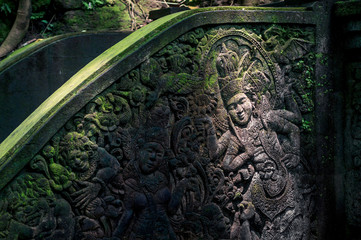 Carved ornament on the hindu temple