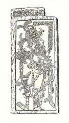 Tlaloc, god of the rain in aztec religion (from Spamers Illustrierte Weltgeschichte, 1894, 5[1], 74)