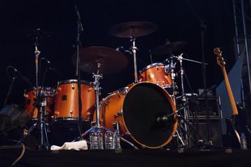 Foto op Aluminium Vlam audio stage drums