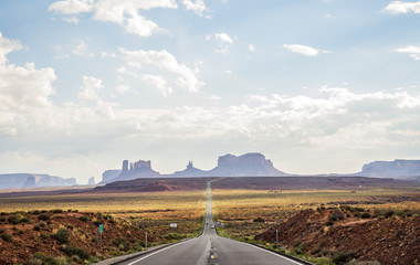 Forest Gump Point Monument Valley scenic panorama on the road - Arizona, AZ, USA