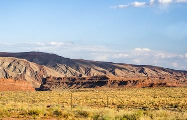 Colored mountains, San Juan valley, US Hwy 163 - Utah, USA