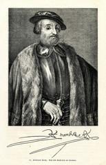 Hernando Cortés, spanish conquistador (from Spamers Illustrierte Weltgeschichte, 1894, 5[1], 81)