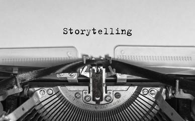 Storytelling typed words on a Vintage Typewriter.