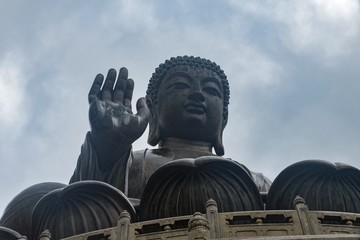 Big Buddha statue in Lantau island, Hong kong