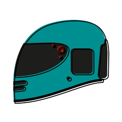 helmet motorcycle icon image vector illustration design