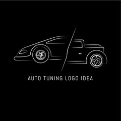 Auto tuning and repair logo design template. Vector illustration