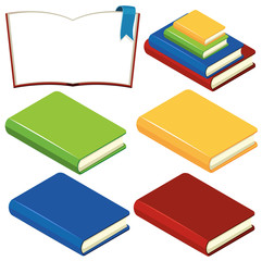 Books with different color covers