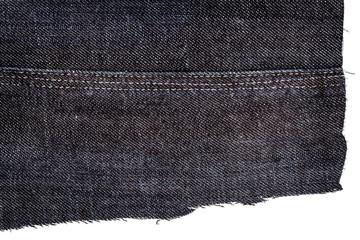 Piece of dark jeans fabric