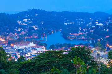 Kandy aerial panoramic view