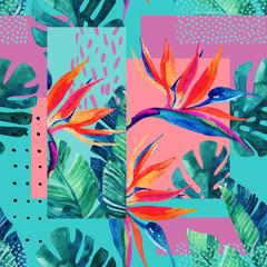 Conception abstraite d& 39 été tropicale dans un style minimal.