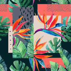 Abstract tropical summer design in minimal style.