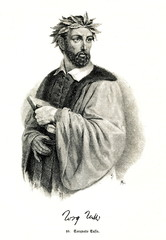 Torquato Tasso, italian poet (from Spamers Illustrierte Weltgeschichte, 1894, 5[1], 117)