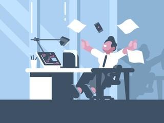 Happy businessman about successful business dea