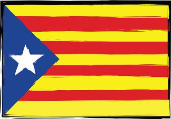 Grunge Catalonia flag or banner