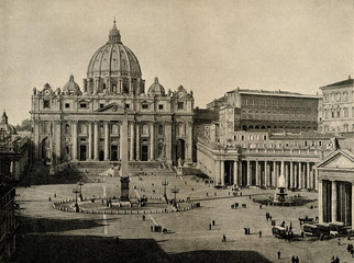 St. Peter in the Vatican ca. 1890 (from Spamers Illustrierte Weltgeschichte, 1894, 5[1], 122/123)
