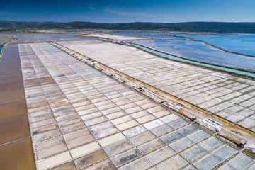 Salt evaporation ponds in Secovlje, Slovenia