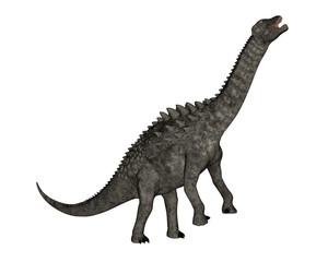 Ampelosaurus dinosaur eating - 3D render