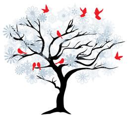 Vector Winter Tree