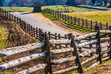 Road and Fences Through Antietam Battlefield