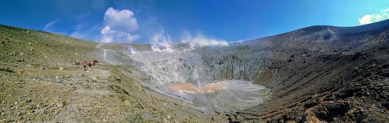Crater of Volcano of Aeolian islands