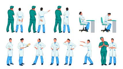 doctors set colored