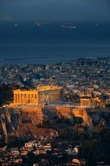 Fototapete - Athens skyline sunrise from Mt Lykavitos
