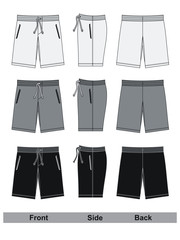 shorts black and white vector