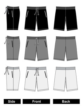 shorts Templates black and white vector