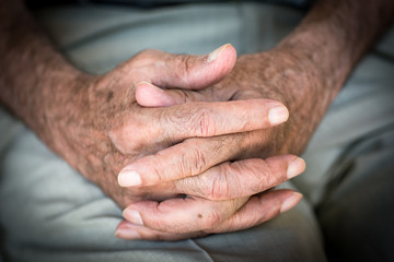 Hands of and Old Man, Close up