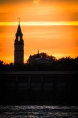 Church Silhouette At Dusk