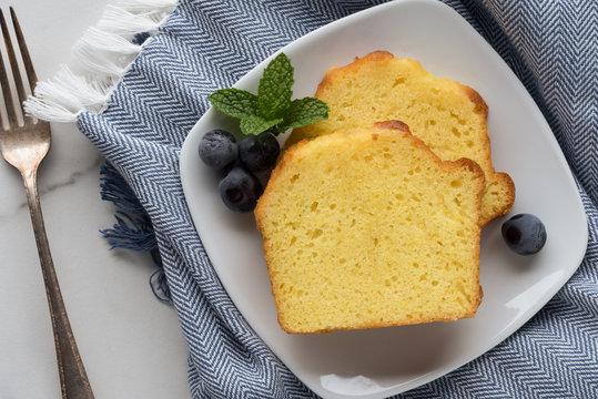 Lemon Loaf Cakes Slices
