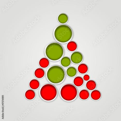 Symbol Weihnachtsbaum.Weihnachtsbaum Rot Grün Baum Tannenbaum Symbol Zeichen Stockfotos