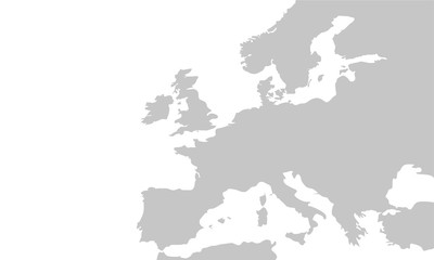 Vector map of the Europe