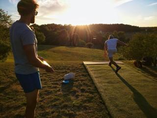 Sunset disc golf