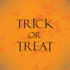 Trick or Treat Text with web Vector Design. Halloween Element Print