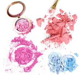 Crusher make up eyeshadow and powder set