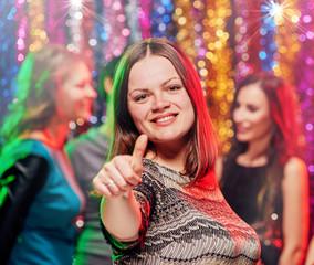 Happy women at party portrait