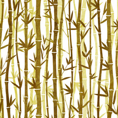Seamless pattern with bamboo plants and leaves.High-resolution seamless texture