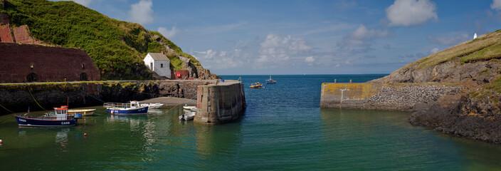 Porthgain Harbour near St. David's in Pembrokeshire, Wales,UK